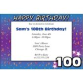 100 Happy Birthday  Personalized Invitations