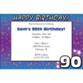 90 Happy Birthday  Personalized Invitations