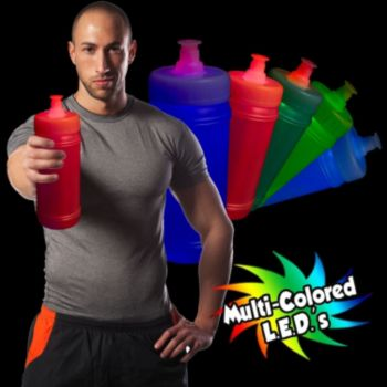 Multi-Color Aqua-Lite Sports Bottle - 16 Oz.