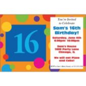 16th Birthday Dots Personalized Invitations