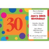30th Birthday Dots Personalized Invitations