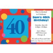 40th Birthday Dots Personalized Invitations
