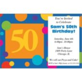 50th Birthday Dots Personalized Invitations