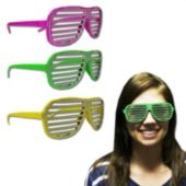 Neon Sparkle Slotted Glasses