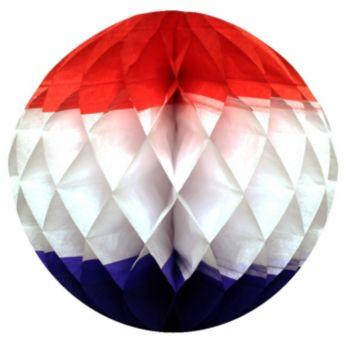 "Patriotic Honeycomb 12""  Tissue Ball"