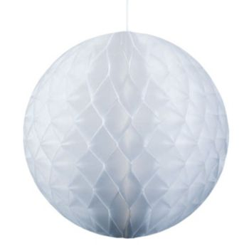 "White Honeycomb  11 12"" Tissue Ball"