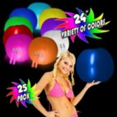 "Glowing 24"" Beach Balls - Variety of Colors"