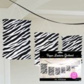 Zebra Print Lantern Garland Decoration