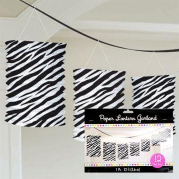 Zebra Print Lantern Garland