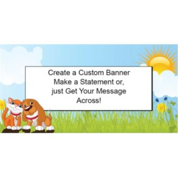 Cat and Dog Pet Party Custom Banner