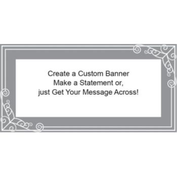 Simply Elegant Gray Custom Banner