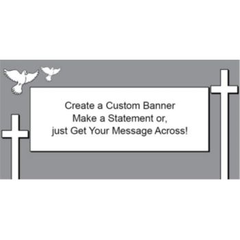 Religious Cross Custom Banner
