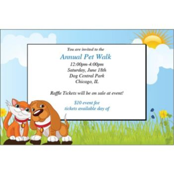 Cat and Dog Pet Party Personalized Invitations
