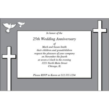 Religious Cross Personalized Invitations