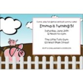 this Little Piggy  Personalized Invitations