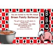Western BBQ Personalized Invitations