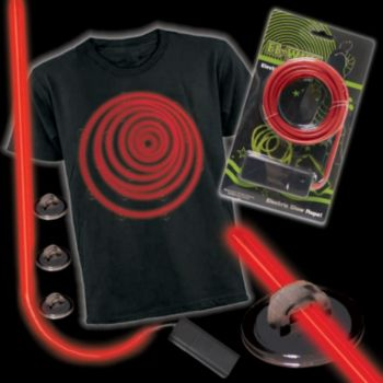 RED LUMITLITE elec TRON ic COSTUME KIT