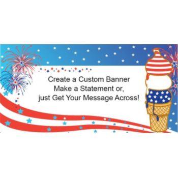 Patriotic Ice Cream Cone Custom Banner