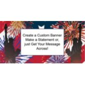 Patriotic Fireworks 4th Custom Banner
