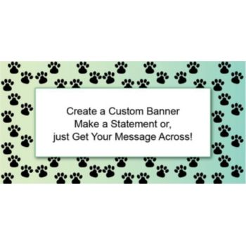 Paw Prints Custom Banner