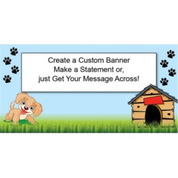Happy Puppy Custom Banner