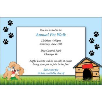 Happy Puppy Personalzied Invitations
