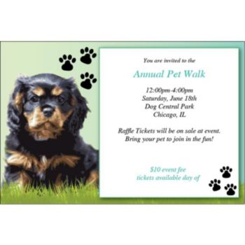 Big Dog Personalized Invitations