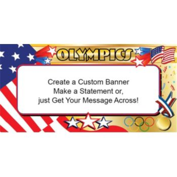 Stars and Stripes Olympic Banner (Variety of Sizes)