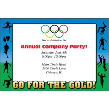 Olympic Summer Games Personalized Invitations
