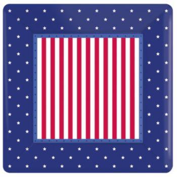 "Stars & Stripes  10"" Plates"