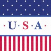 Stars & Stripes Lunch Napkins - 16 Pack