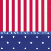 Stars And Stripes Beverage Napkins - 16 Pack