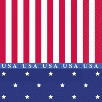 Stars & Stripes  Beverage Napkins