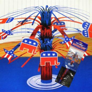 Republican Foil  Cascade Centerpiece