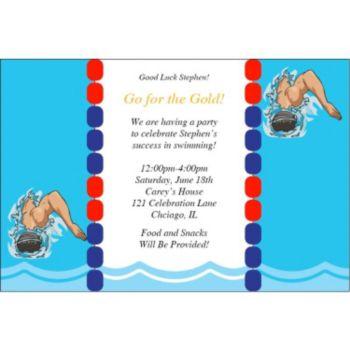 Team USA Swim Personalized Invitations