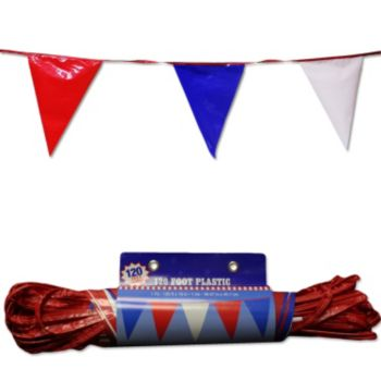 red white and blue pennant flag banner windy city novelties. Black Bedroom Furniture Sets. Home Design Ideas