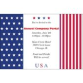 Stars & Stripes Personalized Invitations