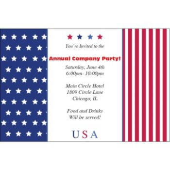 Stars and Stripes Personalized Invitations