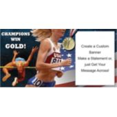 Running For Gold - Custom Banner