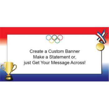 Olympic Medal Ceremony Custom Banner