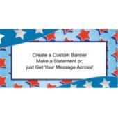 Red, White & Blue Stars Custom Banner