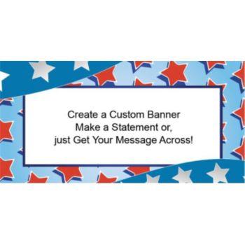 Red, White and Blue Stars Custom Banner