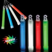 Assorted Color Safety Glow Sticks - 6 Inch, 10 Pack