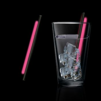 5'' Pink Glow Straws