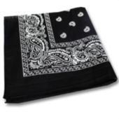 "Black 22"" Cotton Bandana"