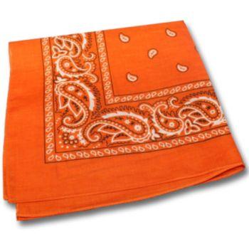 "Orange Cotton  22"" Bandanas"