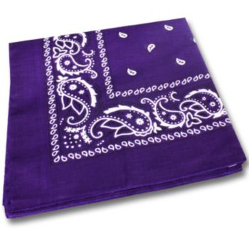 "Purple Cotton 22"" Bandanas"