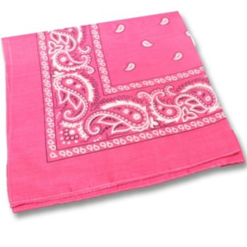 "Pink Cotton  22"" Bandanas"
