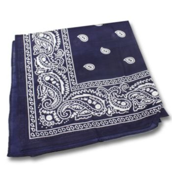 "Blue Cotton  22"" Bandanas"
