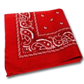 "Red Cotton 22"" Bandanas"